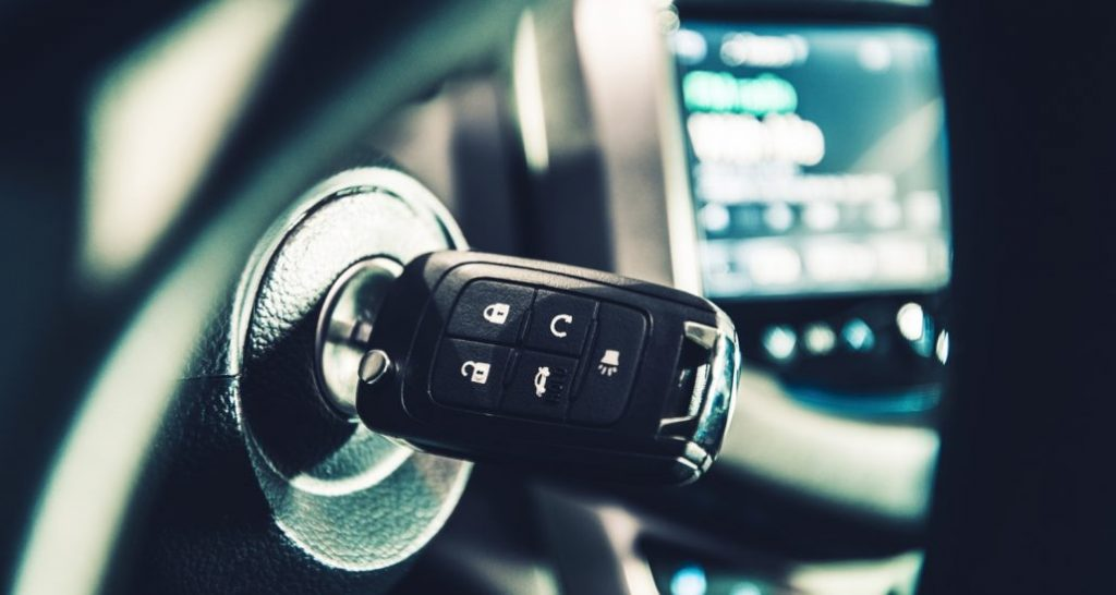 Remote Head Car Key in Car Ignition | Locksmith in Pompano Beach FL